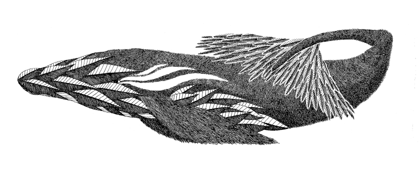 Baleine à plume - 10x35 cm ---- ACHAT OEUVRE ORIGINALE - 130€ : https://astridjo.com/contact/
