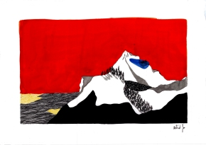 Montagne III - 21x29,7 cm ---- ACHAT OEUVRE ORIGINALE - 160€ : https://astridjo.com/contact/