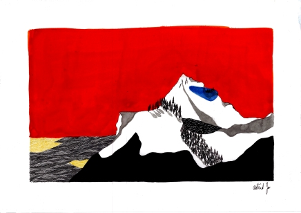 Montagne III - 21x29,7 cm ---- ACHAT OEUVRE ORIGINALE - 70€ : https://astridjo.com/contact/