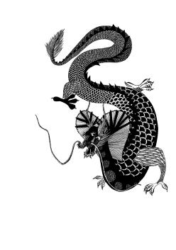 Petit dragon - 29,7x21 cm ---- ACHAT OEUVRE ORIGINALE 130€ : https://astridjo.com/contact/