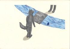 Bleu horizon IV – 29,7×42 cm —- ACHAT OEUVRE ORIGINALE – 150€ https://astridjo.com/contact/