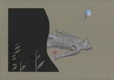 Bleu horizon V – 29,7×42 cm —- ACHAT OEUVRE ORIGINALE – 150€ https://astridjo.com/contact/