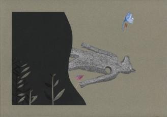 Bleu horizon V – 29,7×42 cm —- ACHAT OEUVRE ORIGINALE – 380€ https://astridjo.com/contact/
