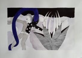 La solitude ou Un petit prince III - 29,7x42cm --- VENDUE