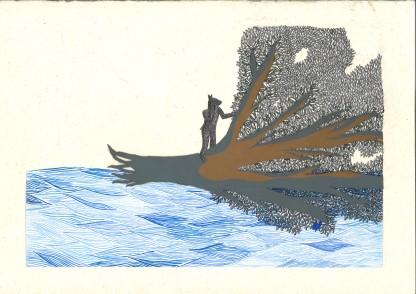 Bleu horizon X – 29,7×42 cm —- ACHAT OEUVRE ORIGINALE – 150€ https://astridjo.com/contact/
