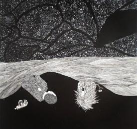 Lent reveil – 29,7×21 cm —- VENDUE
