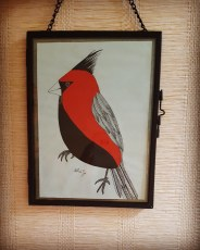 Cardinal – 15×10 cm —- ACHAT OEUVRE ORIGINALE – 35€ https://astridjo.com/contact/