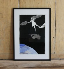 You have to die to be reborn – 29,7×21 cm —- ACHAT OEUVRE ORIGINALE – 150€ : https://astridjo.com/contact/