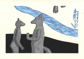 Bleu horizon II – 29,7×42 cm —- ACHAT OEUVRE ORIGINALE – 150€ https://astridjo.com/contact/