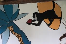 Détail de fresque murale intérieure ---- TARIF HORAIRE - 25€ : https://astridjo.com/contact/