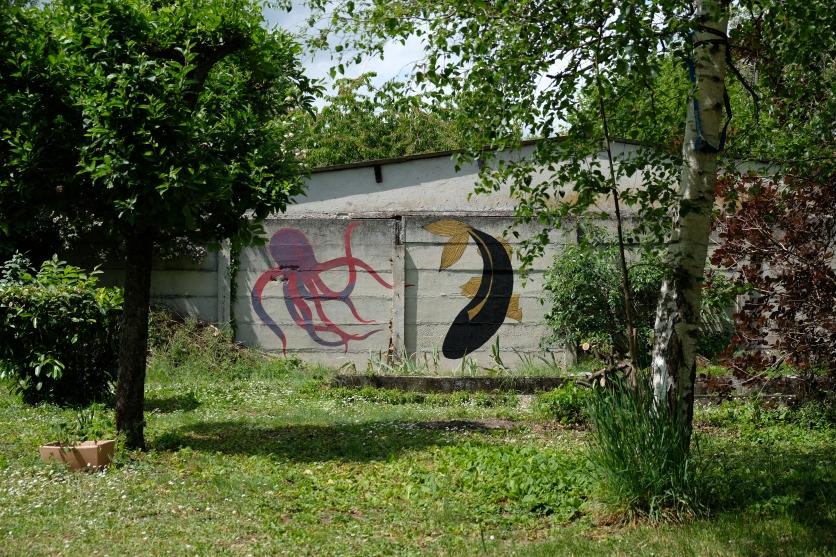 Fresque murale extérieure ---- TARIF HORAIRE - 30€ : https://astridjo.com/contact/