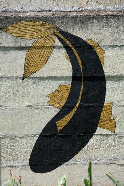 Détail de fresque murale extérieure ---- TARIF HORAIRE - 30€ : https://astridjo.com/contact/